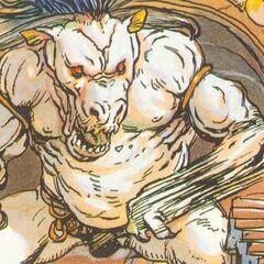 Benjamin dodges a Minotaur's attack.