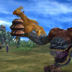 Chocobo Eater with a chocobo in <i>Final Fantasy X</i>.