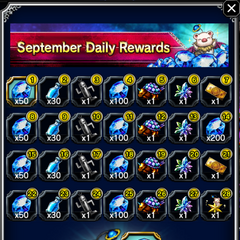 September 2016 Daily Rewards for global release.