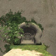 An entrance to the Shrine of Ru'Avitau.