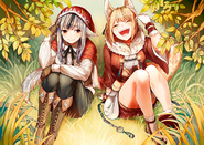 Velouria and Selkie Support Art