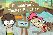 Clamantha's Pucker Practise menu
