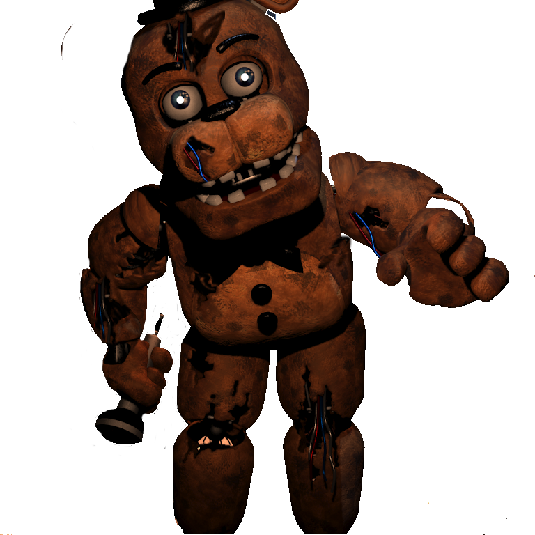 Withered withered freddy fazbear five nights at withered toy freddy
