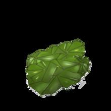 Uncut emerald gem