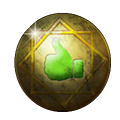 Gold Comment Thumb Badge