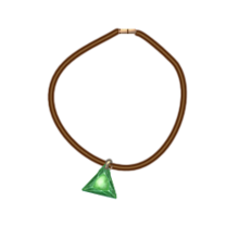 Leather emerald cord necklace