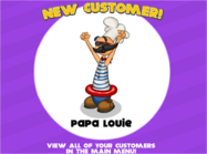 Papa Louie Customer!