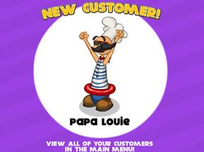 Papa Louie Customer!