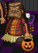 Kahuna as a tiki warrior