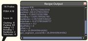 Print segment details recipe output