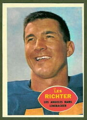 68 Les Richter football card