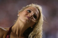 Washington Redskins cheerleader @ game vs New England Patriots 04