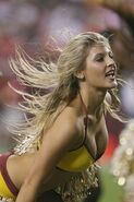 Washington Redskins cheerleader @ game vs New England Patriots 19