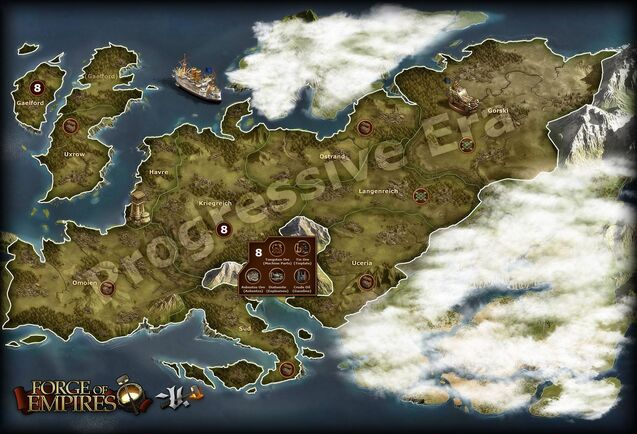 Popular Continent Maps  Forge Of Empires Wiki