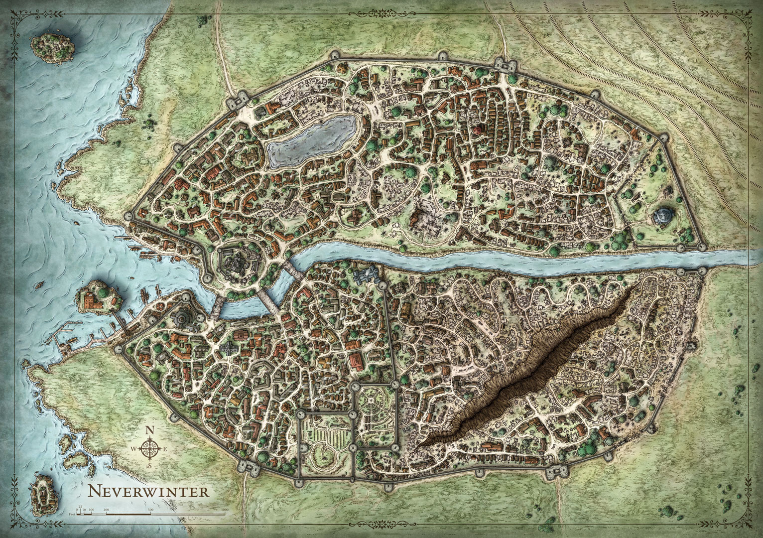 The D&D city, Neverwinter.