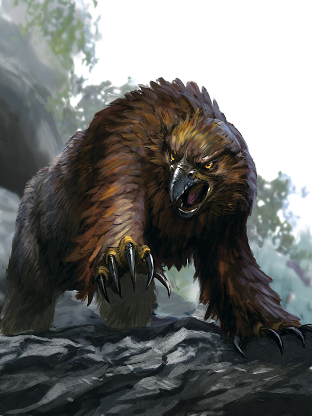 D&D Owlbear from the D&D SRD