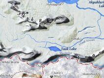 Taak Lake map