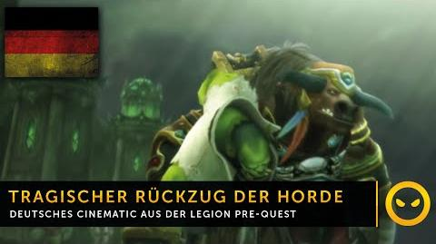 Legion In-Game-Cinematic Tragischer Rückzug der Horde! DE