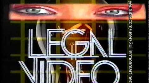 Logo VHS (Version antigua)- Legal Video (1986-Late 1980s)