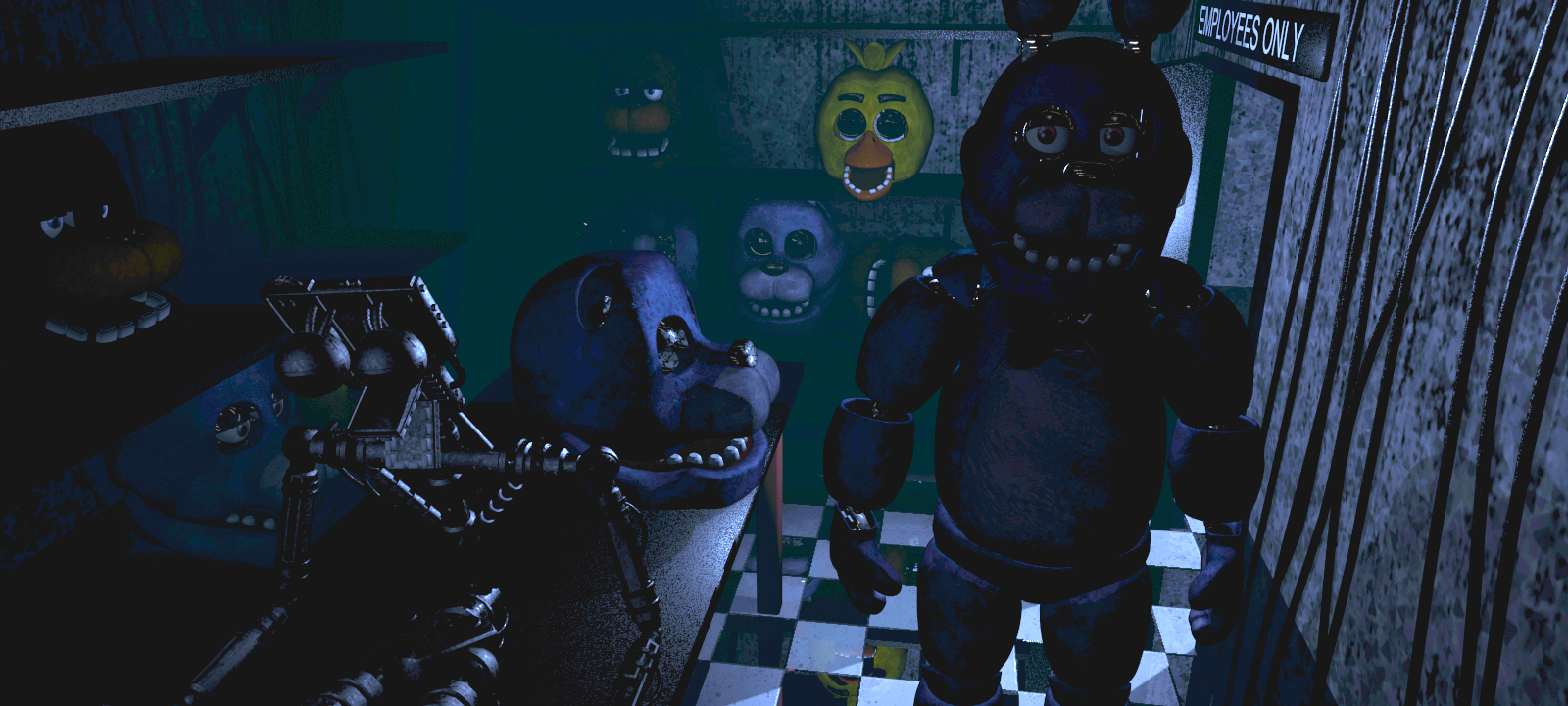 Five nights at freddy s 1 phone guy and the endoskeleton