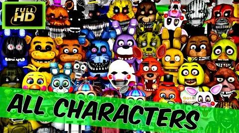 Five Nights At Freddy's All Characters Names Five Nights At Freddy's All Games - Fnaf Characters