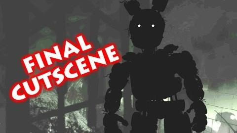 FINAL SISTER LOCATION CUTSCENE Golden Freddy V.Hard Mode Normal & Brightened HD w Subtitles