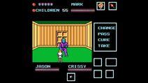 Jason attacking inside cabin