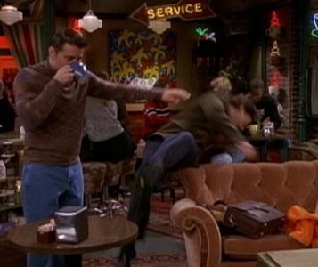 Joey Shoves Ross!