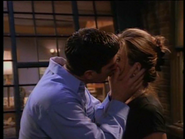 Rachels daydream kiss with ross