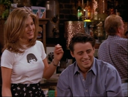 Rachel and Joey are Amused