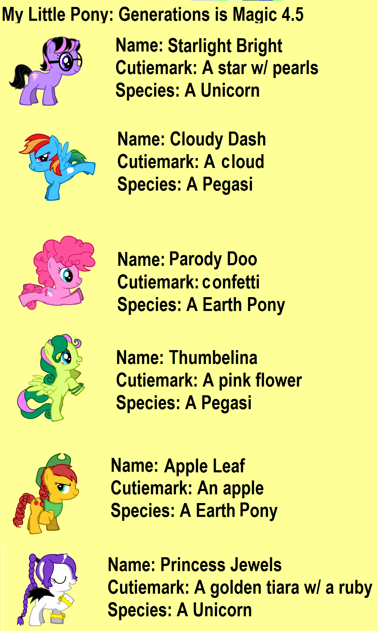 Summary -> My Skills Guide Little Pony Version 2