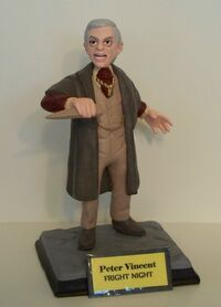Clayguy Figurine - Fright Night Peter Vincent Roddy McDowall
