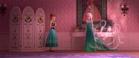 Elsa spruces up the dresses