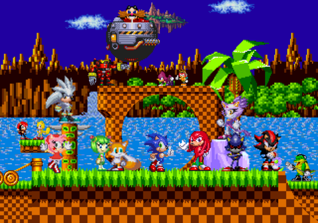 Fichier:Green hill zone by hero t-d5x0fm1.png