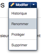 Fichier:Renommer une page 1.png