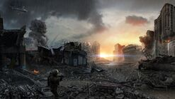 Destroyed american city