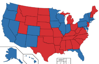 2028 Presidential election map