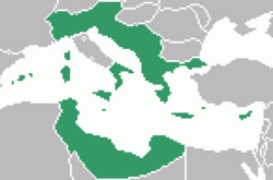 The map of the Greek Empire.
