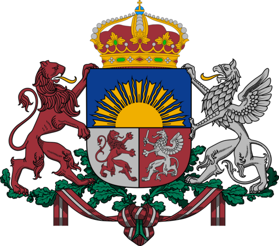 File:Coat of arms of Royal Latvia.png