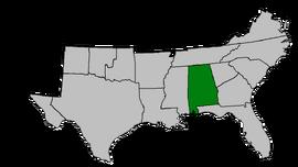 CSA Map Alabama Highlighted