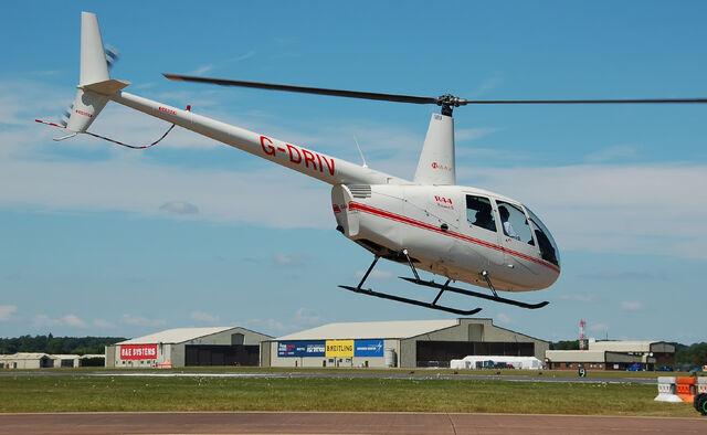 File:Heli Air Robinson R44 Raven II arrives RIAT Fairford 10thJuly2014 arp.jpg