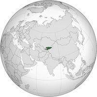 Kyrgyz globe map
