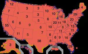 2020 Electoral Map President Trump