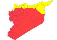Map of Syria after Treaty of Aleppo