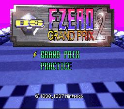BS F-Zero Grand Prix 2 title screen