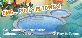Summer Festival pools in towns