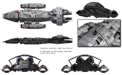 Poseidon Subclass Light Battlestar (A)
