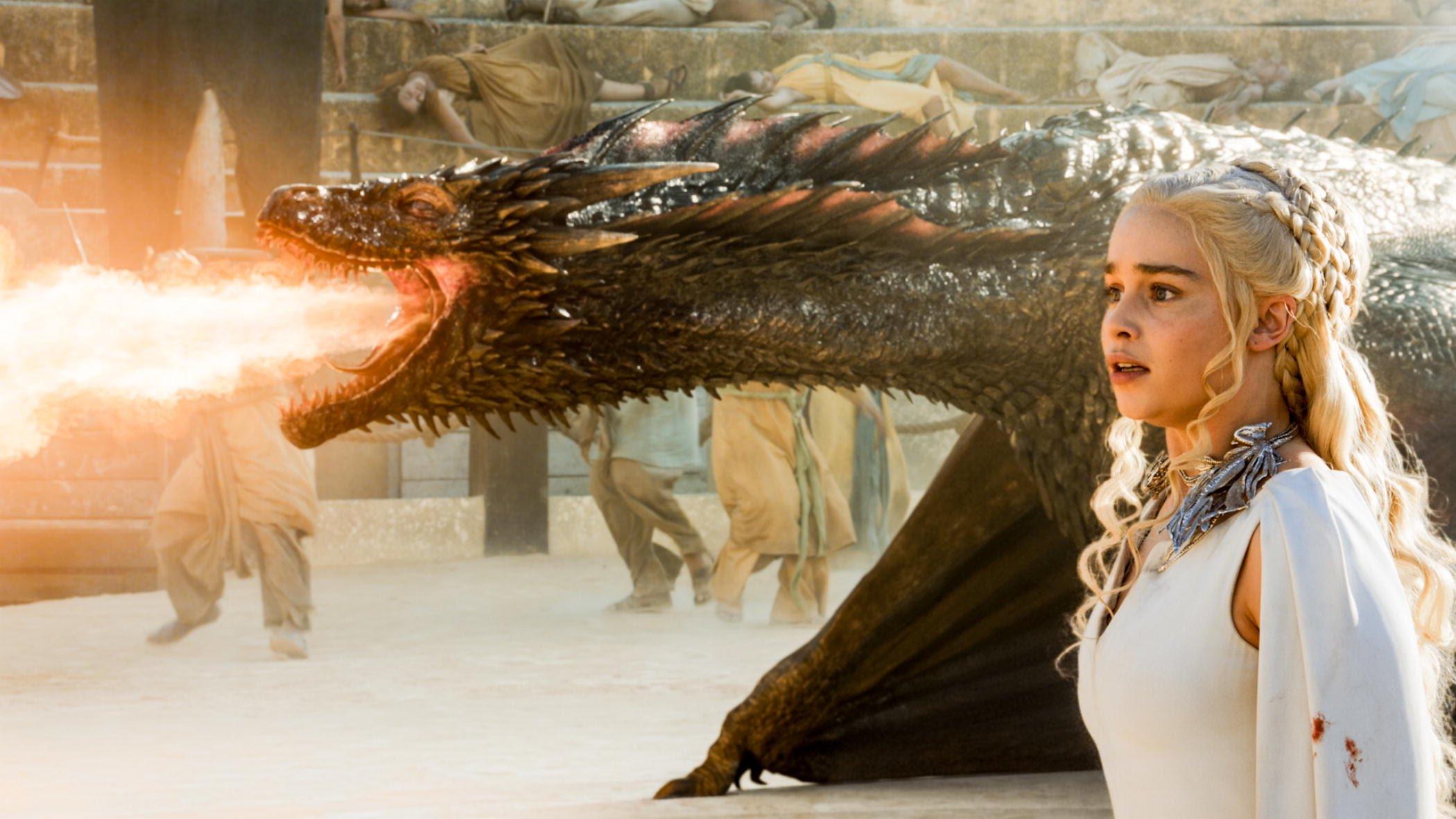 Daenerys Targaryen and dragon