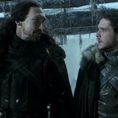 Jon says goodbye to his uncle, <a href=