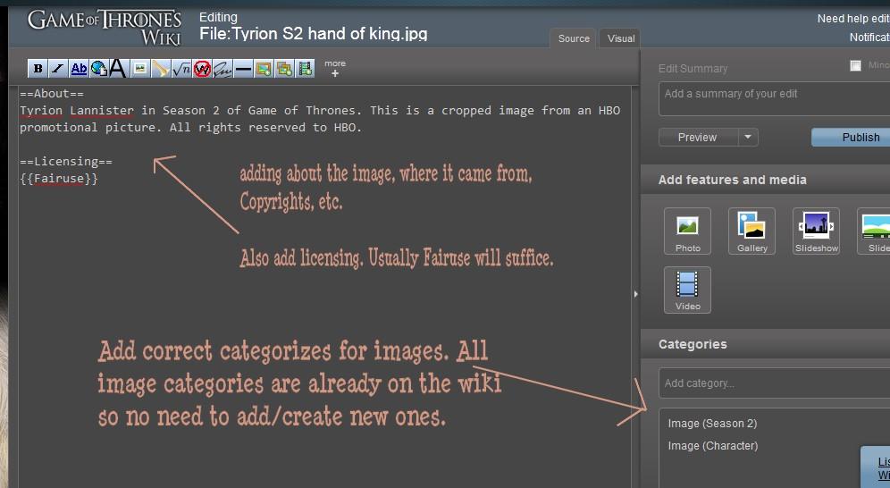 Properly editing categorizing images